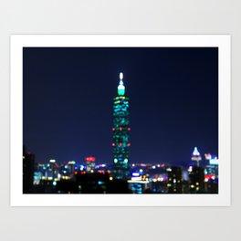 Taipei Nightscape Art Print