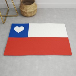 Texas State Flag with Heart Rug