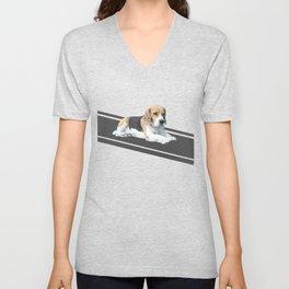 Beagle Dog #3 Unisex V-Neck