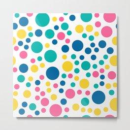 Seamless colorful bright summer circle Metal Print