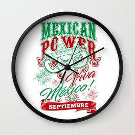 Mexican Power Color Wall Clock