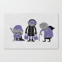 superheroes Canvas Prints featuring Superheroes! by monrix