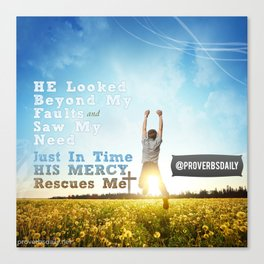 He Looked Beyond My Fault Canvas Print