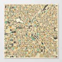 denver Canvas Prints featuring DENVER by Jazzberry Blue