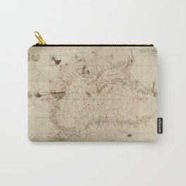 Antique / Vintage Map - The Black Sea, from Andrea Bianco's Atlas (1436) Carry-All Pouch