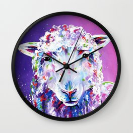 The Pink Sheep Wall Clock