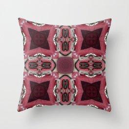 Soft Red Quadrant Throw Pillow