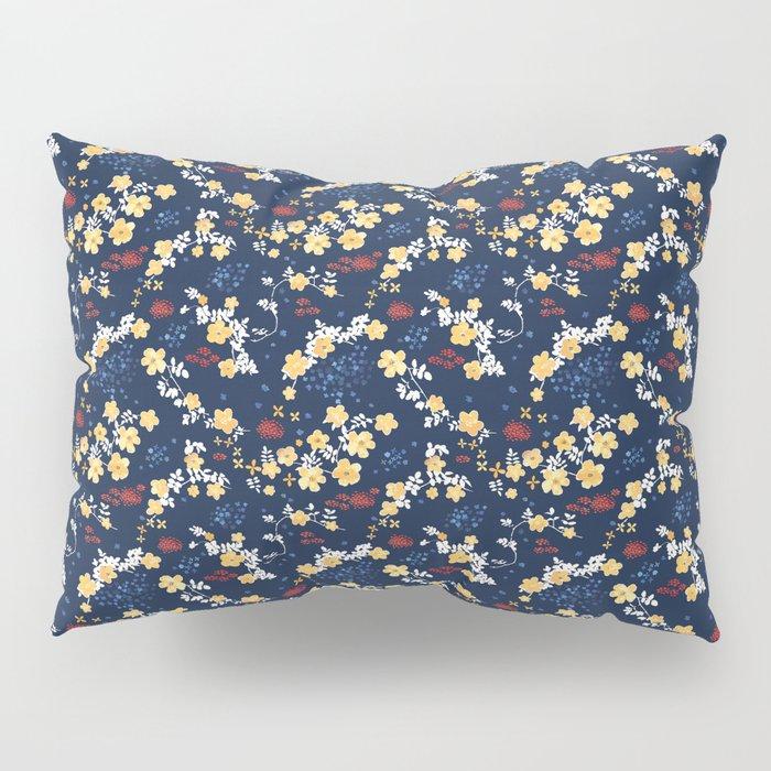 Yellow Clematis Floral Pattern Pillow Sham