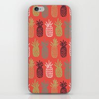 pineapples iPhone & iPod Skins featuring Pineapples by Annie Smith Designs