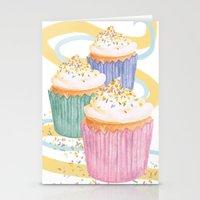 sprinkles Stationery Cards featuring Sprinkles by Hayley Bowerman Design