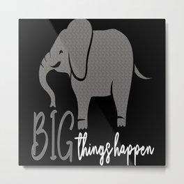 Elephant Elephant Costume Africa Gifts Metal Print