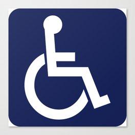 Disabled Symbol Canvas Print
