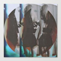 twins Canvas Prints featuring Twins by Jane Lacey Smith