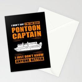 Pontoon Boat Owner | Pontoon Captain Pontoons Stationery Cards