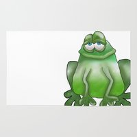 frog Area & Throw Rugs featuring Frog by Frances Roughton
