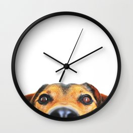Peeking jack russel Wall Clock
