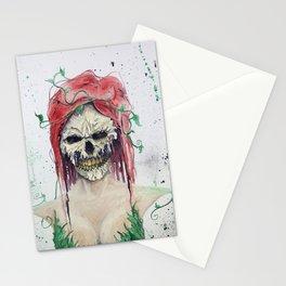 Poison Ivy Skull Stationery Cards
