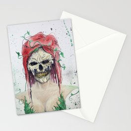 Poison Ivy Skull Stationery Cards