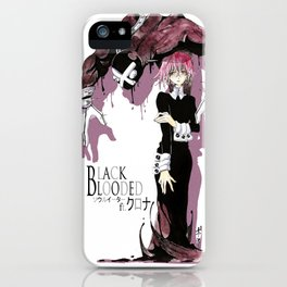 Black Blooded / White iPhone Case