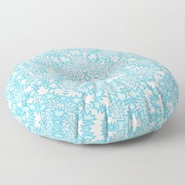 icy blue abstract Floor Pillow