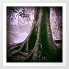 Temporary shelter from the storm  Art Print
