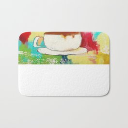 Love Adventures & Coffee Bath Mat