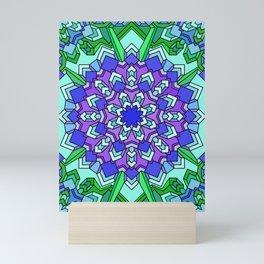 Kaleidoscope of Cool Colors Mini Art Print