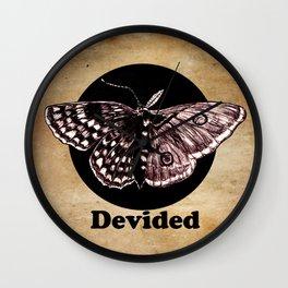 Half Moth Half Butterfly Devided Wall Clock