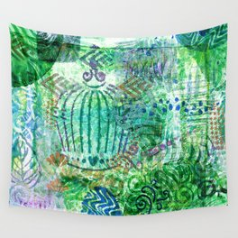 Caged Greens Wall Tapestry