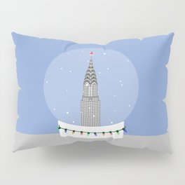 New York City NYC Christmas Snow Globe Pillow Sham