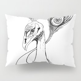 Peacock Ink Pillow Sham
