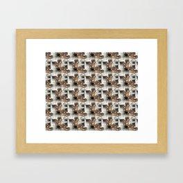 Battery Mishler Power Hoist lower section pattern Framed Art Print