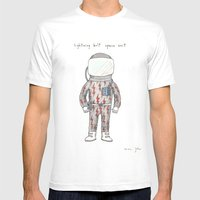 lightning bolt space suit MEDIUM Mens Fitted Tee White
