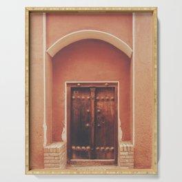 Abyaneh Door #2 (from the series 'Iranian Doors') Serving Tray