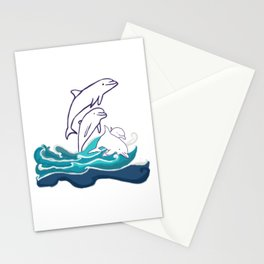 Happy Dolphins Stationery Cards