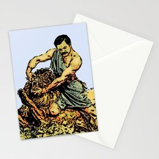 Ron Swanson Slaying A Lion  |  Parks and Recreation Stationery Cards