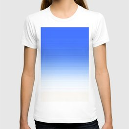 Sky Blue White Ombre T-shirt