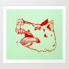 rabid dogs bite Art Print