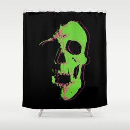 Skull - Lime Shower Curtain