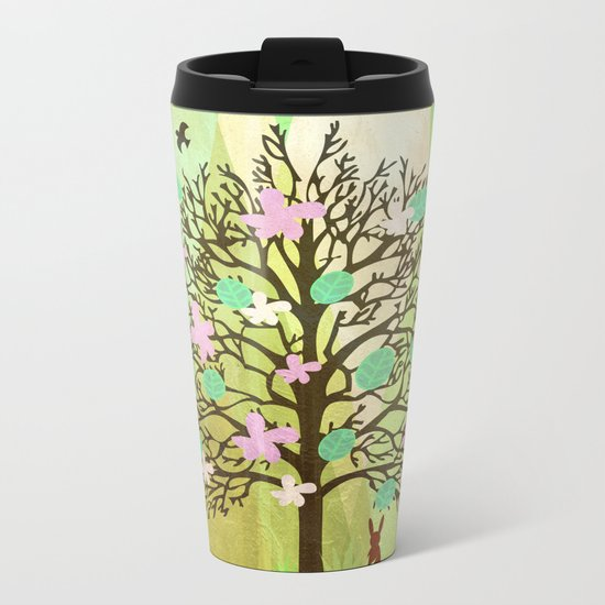 Spring Tree Metal Travel Mug