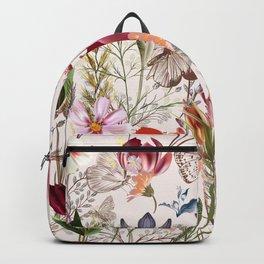 Flower vintage pattern with assorted plants. Vintage pro-vance style Backpack