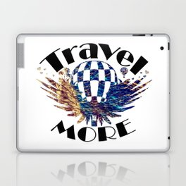 Travel More text Laptop & iPad Skin