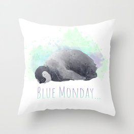 Every Monday is... Throw Pillow