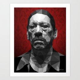 Danny Trejo low poly Art Print