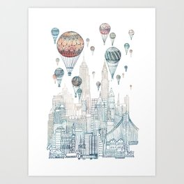 Voyages Over New York ~Refresh Art Print