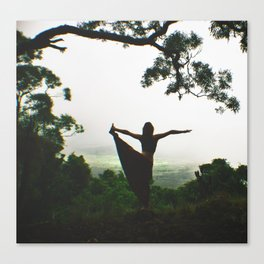 Forest Yoga Canvas Print
