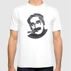 Groucho Marx Mens Fitted Tee White MEDIUM