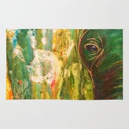 Elephant Painting Rug