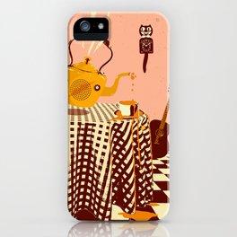 ORANGE TEA SPILL iPhone Case