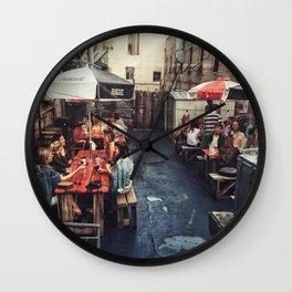 Outdoor Brunch Wall Clock